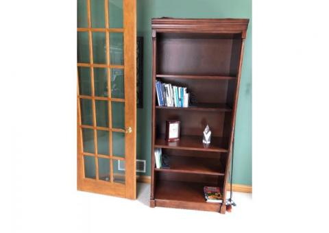 Hardwood book shelf